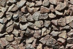 Granite stone wall. As background Royalty Free Stock Photos