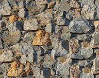 Granite stone wall. Texture design in retro style, seamless tiling Stock Photos