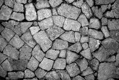 Granite stones in black and white Royalty Free Stock Photography