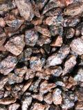 Granite stones. On the bottom of the stream Stock Photo