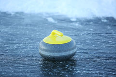 Granite stones for curling on ice Stock Photos