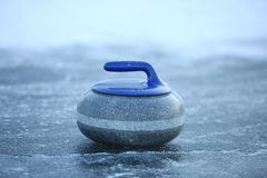 Granite stones for curling on ice Stock Photo