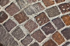 Granite stones pavement Royalty Free Stock Photos
