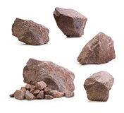 Granite Stones,rocks Isolated Royalty Free Stock Photography