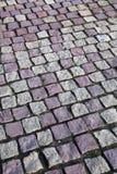 Granite stones. Square granite stones on the pavement Stock Photo