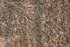 Granite surface overgrown with moss Royalty Free Stock Photos