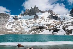 Granite tower peaks and mountains in Patagonia