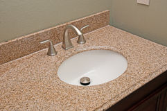 Granite Vanity Sink Stock Photos