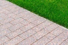 Granite walkway in the garden Stock Image