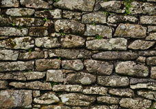 Granite wall. At an old historic building in Cornwall Royalty Free Stock Photos