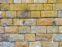 Granite wall. Granite fortress wall close-up Stock Photo