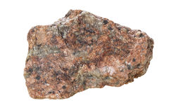 Granite on a white background. Royalty Free Stock Image