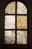 Granite Window. View at a colorful wall out a window Royalty Free Stock Images