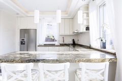 Granite worktop Stock Photo