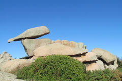 Granitfelsformation in Ploumanac Lizenzfreie Stockfotos