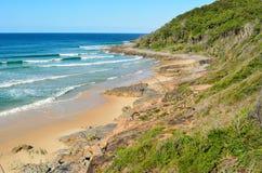 Granitfjärd i den Noosa nationalparken i Queensland, Australien royaltyfri bild