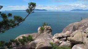 Granitflusssteine von magnetischer Insel Queensland Australien Lizenzfreies Stockfoto