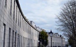 Granithalvmånformig av Aberdeen radhus Arkivbild