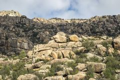 Granitic горные породы в Ла Pedriza Стоковые Фотографии RF