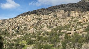 Granitic горные породы в Ла Pedriza Стоковые Изображения