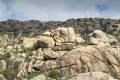 Granitic горные породы в Ла Pedriza Стоковая Фотография