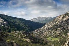 Granitic горные породы в Ла Pedriza Стоковое Изображение
