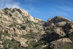 Granitic горные породы в Ла Pedriza Стоковые Фото