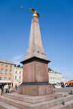Granitic obelisk on Market square in Helsinki Stock Photography