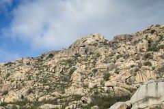 Granitic rock formations in La Pedriza Royalty Free Stock Photo