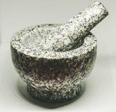 Granitmortel Matlagning med glädje arkivfoto