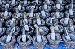 Granitmortel och pestle Royaltyfri Bild