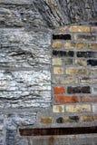 Granito e tijolos Imagem de Stock