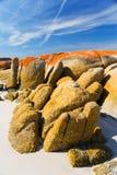 Granito impressionante na praia Fotografia de Stock Royalty Free