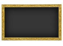 Granito negro con el marco del oro Imagen de archivo
