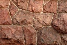 Granito vermelho wall-2 Fotografia de Stock Royalty Free