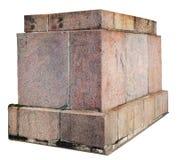 Granitowa baza dla starej statuy odizolowywającej zdjęcie royalty free