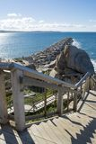 Granitowa wyspa Groyne i schody, zwycięzcy schronienie, Południowy Austra Fotografia Royalty Free