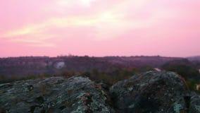 Granitowi głazy przed wschodem słońca zbiory