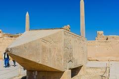 Granitowi obeliski w Karnak świątyni Luxor egiptu zdjęcia royalty free