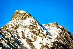Granitowy szczyt Yak góra w Kaskadowym pasmie górskim Zdjęcia Stock