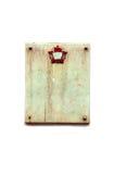 Granitplatte auf weißem Hintergrund Lizenzfreie Stockfotografie