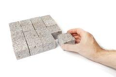 Granitquadrat Stockbild