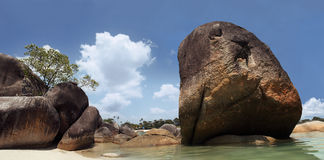 granitu plażowy kamień Zdjęcia Stock