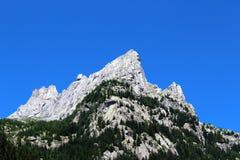 Granitu rockowy halny szczyt Zdjęcia Stock