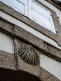 Granitu Santiago kamienna pielgrzymia skorupa Obraz Royalty Free