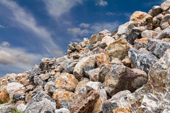 Granitu stos z niebem Obrazy Royalty Free