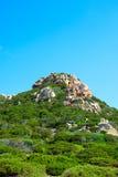 Granitu szczyt, Sardinia. Zdjęcie Stock