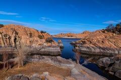 granitu wierzba jezioro Fotografia Royalty Free