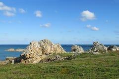 Granitu wybrzeże w Francja Obrazy Stock