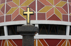 Granitvergoldungskreuz Lizenzfreies Stockbild